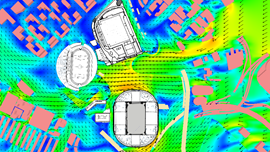 air flow modelling Kai Tak Sports Park